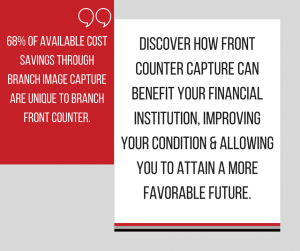graphic on cost savings for front counter capture