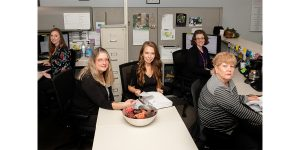 Front Office Staff Working